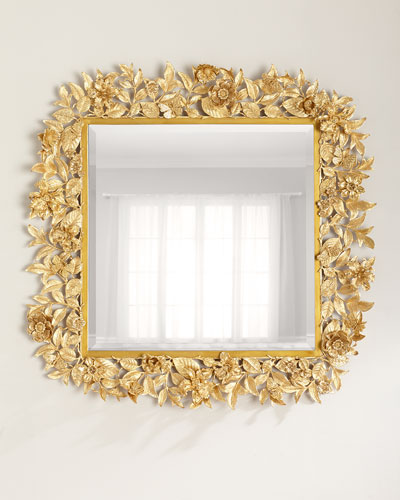 Boxed Leaf Mirror Horchow Com