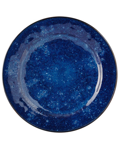 Puro Dappled Cobalt Dinner Plate