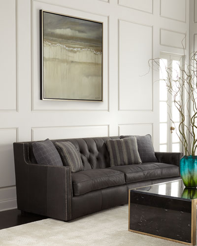 Quick Look. ProdSelect Checkbox. Madeline Tufted Leather Sofa ...