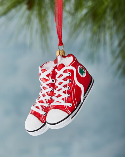 Red High-Top Converse Christmas Ornament