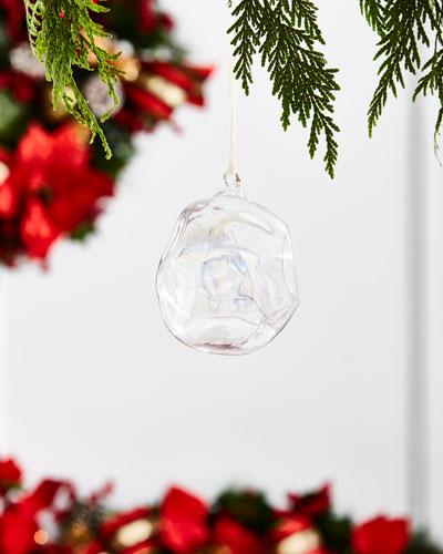 White & Silver Collection Iridescent Ball Ornament, 4