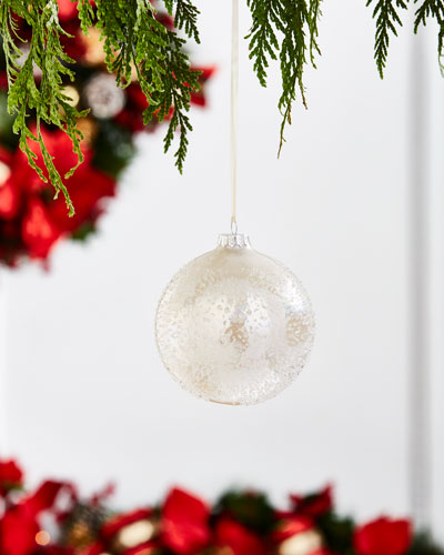 100MM Icy Pearl Glass Ball (