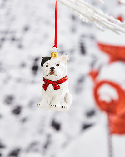 French Bulldog with Parisian Accents Ornament