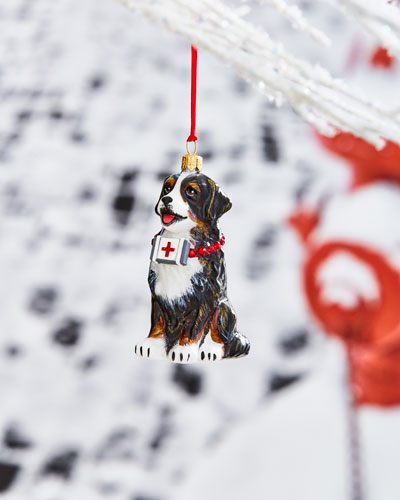 Bernese Mountain Dog with First Aid Kit Ornament