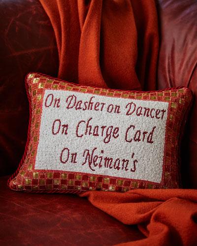 On Dasher, On Dancer Pillow