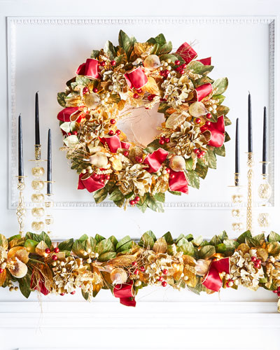 Gold & Glitter Collection Pre-Lit Wreath