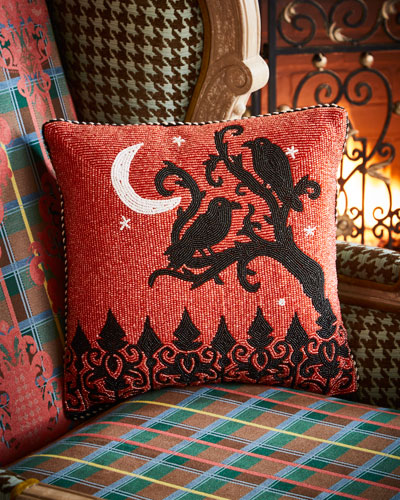 Midnight Crows Halloween Pillow
