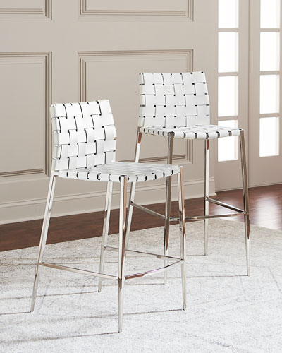 6f6da013b8cc Quick Look. prodSelect checkbox. Kennedy Woven Leather Counter Stool ...