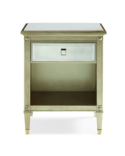 Quick Look. prodSelect checkbox. Emilee Antiqued Mirrored Night Stand - Antiqued Mirrored Bedroom Furniture Horchow.com