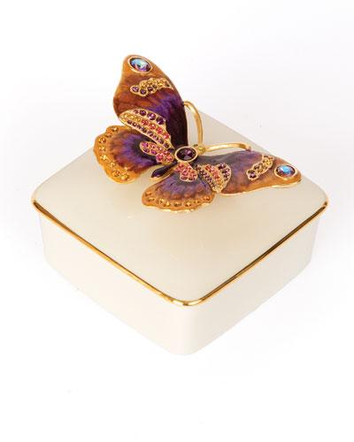 Butterfly Porcelain Box
