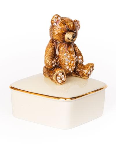 Teddy Bear Porcelain Box