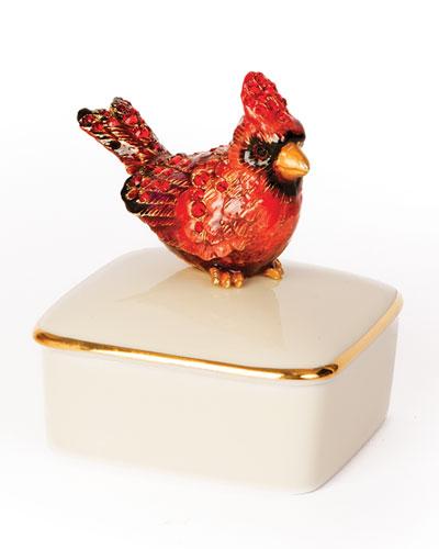 Cardinal Porcelain Box