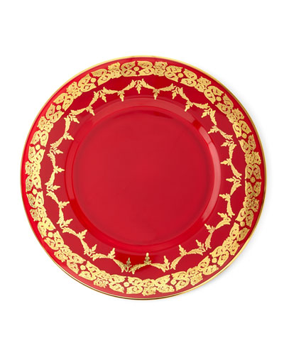 Charger Gold-Finish Dinner Plates, Set of 4