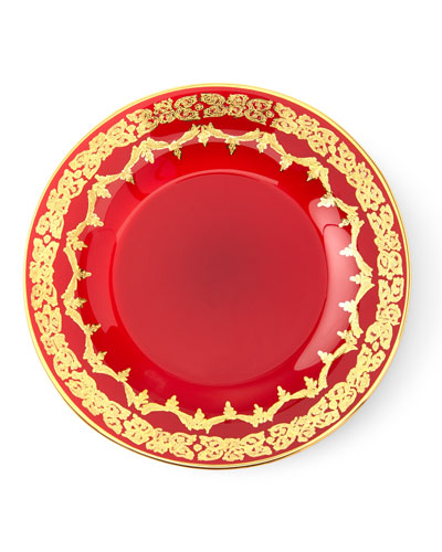 Quick Look. prodSelect checkbox. Red Oro Bello Dessert Plate Set ...  sc 1 st  Horchow & Red Plates Dinnerware | horchow.com