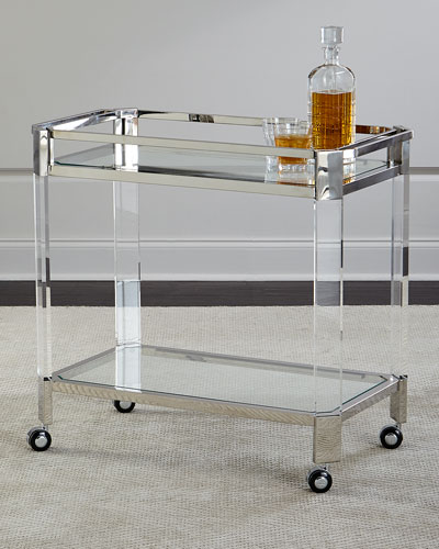 Maxima Stainless & Acrylic Bar Cart