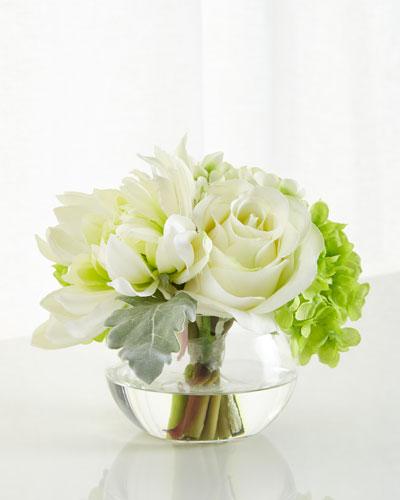 Handcrafted Silk Floral Arrangement Horchow