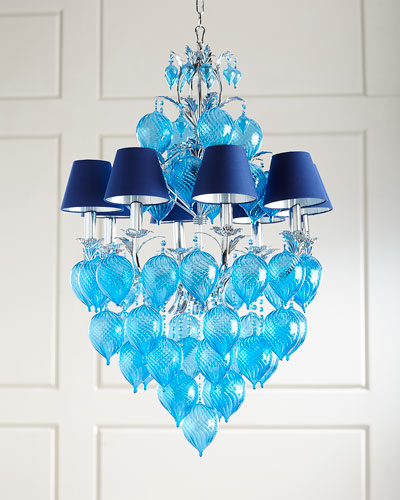 Glass chain chandelier horchow quick look mozeypictures Gallery