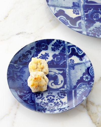 Blue Tile Salad Plates S4