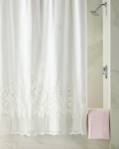 terry cloth shower curtain. Quick Look Cotton Shower Curtain  horchow com
