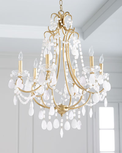 White Finish Chandelier Horchow