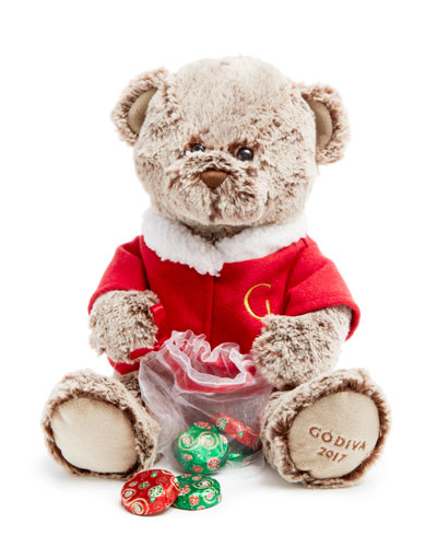 Limited Edition Holiday Plush Bear with Chocolates