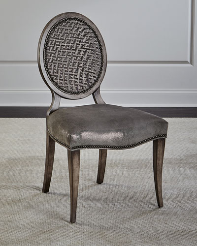 Peachy Leather Beechwood Dining Chair Horchow Com Pabps2019 Chair Design Images Pabps2019Com