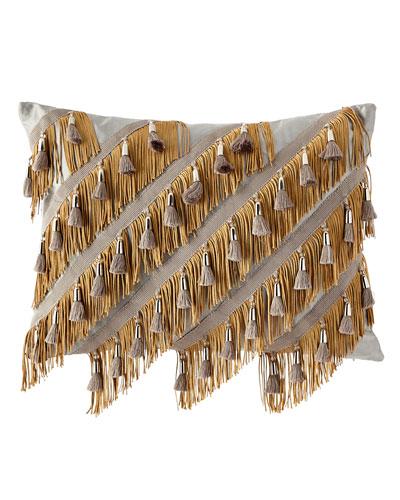Silk Fringe Pillow Horchow