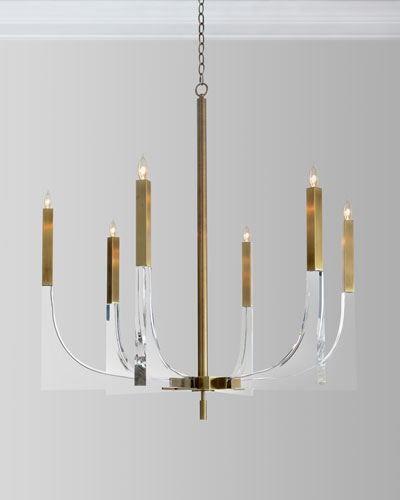 Brass chandelier lighting horchow quick look mozeypictures Choice Image