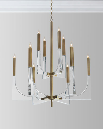Quick look prodselect checkbox acrylic brass finish chandelier 10 lights
