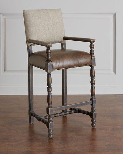 Fantastic Leather Bar Stool Horchow Com Short Links Chair Design For Home Short Linksinfo