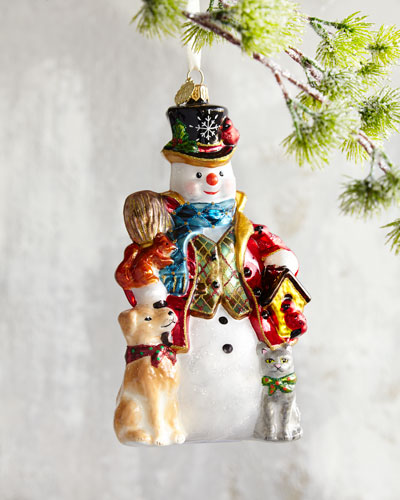 quick look prodselect checkbox john huras snowman christmas ornament - Metal Christmas Ornaments
