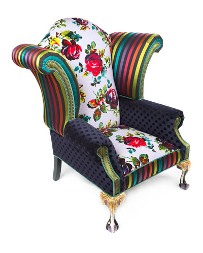 Handcrafted Patterned Chair Horchow Extraordinary Patterned Chair