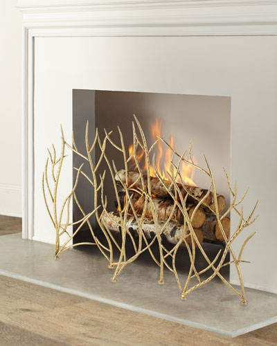 Gold Fireplace Screen