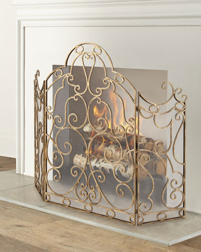 Iron Fireplace Screen Horchow Com