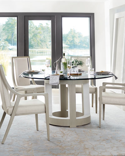 bernhardt dining room set traditional quick look prodselect checkbox axiom round glasstop dining table bernhardt room furniture horchowcom