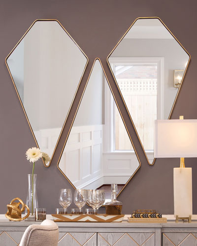 Framed Gold Wall Mirror Horchow Com