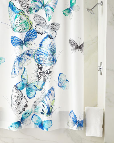 f8a451e8134 Quick Look. prodSelect checkbox. Papillons Cobalt Shower Curtain ·  130.00.  More Details Butterfly-print shower curtain.