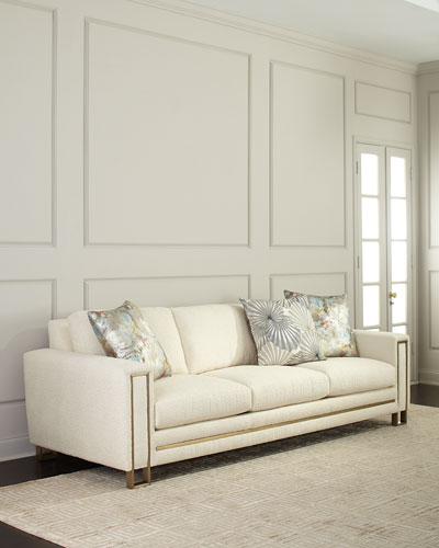 Awesome Polyester Corner Sofa Horchow Com Pabps2019 Chair Design Images Pabps2019Com