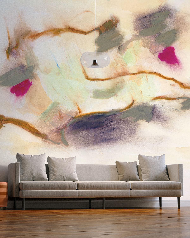 Smokey Abstract Removable Wallpaper