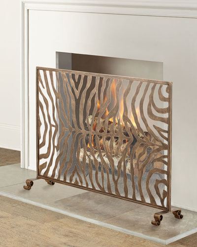 Iron Fireplace Screen Horchow Com