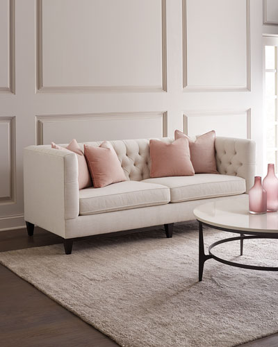 Stupendous Wood Tufted Sofa Horchow Com Pdpeps Interior Chair Design Pdpepsorg