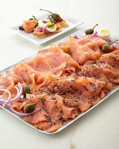 Lemon-Pepper Smoked Salmon, For 18-20 People
