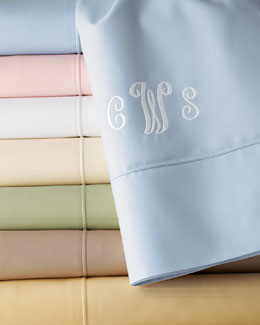 SFERRA Italian 500-Thread-Count Percale Sheeting