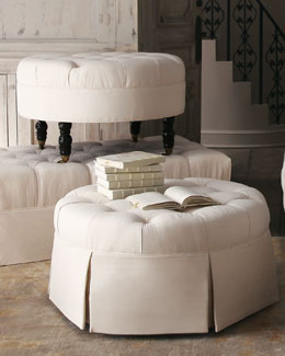 """Ellsworth"" Collection Tufted Ottomans"