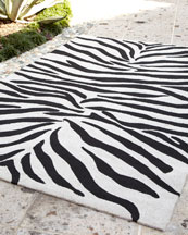 Black and White Zebra Print Bath Rug by by Interdesign