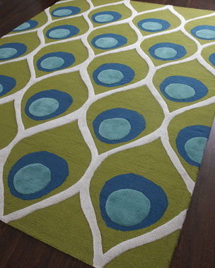 Global Views Bold Peacock Rug