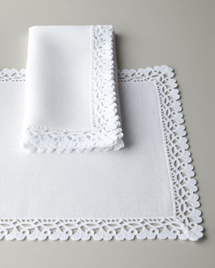 Matouk Ricamo Table Linens