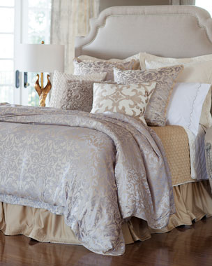 Lili Alessandra Champagne/Silver Jackie Bedding