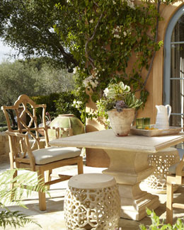 Outdoor Table & Armchair