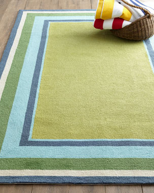 Seaside Blocks Outdoor Rug